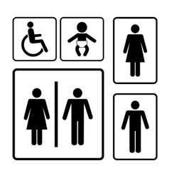 restroom signs vector image vector image