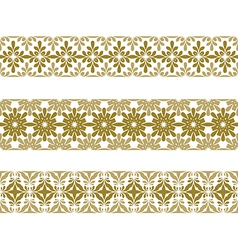 seamless pattern border vector image vector image