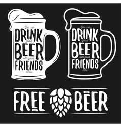 Set of beer typography vintage prints Quotes vector image vector image