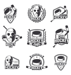 Set of sports logos for hockey vector image vector image