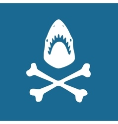 Shark symbol vector image vector image