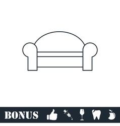 Sofa icon flat vector image