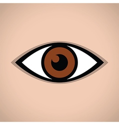 abstract eye icon brown vector image