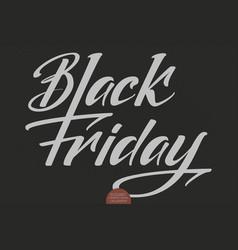 black friday sale lettering elegant modern vector image