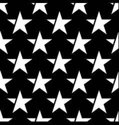 black seamless pattern with white star vector image