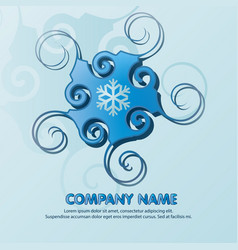blue logo for a company with space for text and vector image
