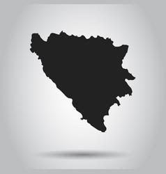Bosnia and herzegovina map black icon on white vector
