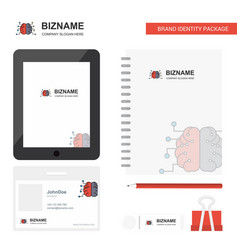 brain business logo tab app diary pvc employee vector image