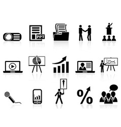 Business presentation icons set vector