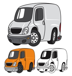 Cartoon Panel Van vector image