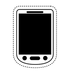 Cellphone technology isolated icon vector
