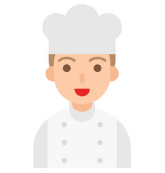 chef icon profession and job vector image
