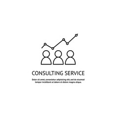 consulting service logo vector image