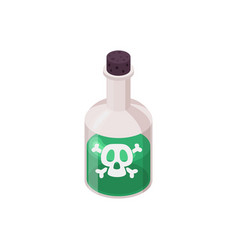 Dangerous potion isometric composition vector