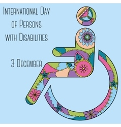 Day of Persons with Disabilities backdground vector