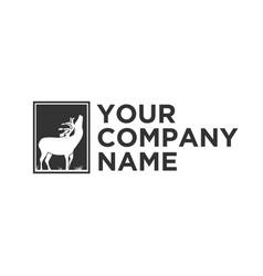 deer logo designs inspirations vector image