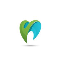 dental logodental logo design dental healthcare vector image