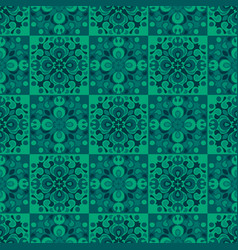 detailed geometric tiles seamless pattern vector image
