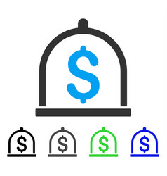 Dollar deposit flat icon vector