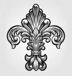elegant Fleur-de-lis vector image vector image