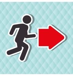 Emergency route design vector