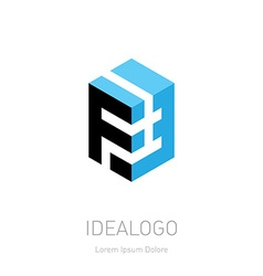 F and 3 initial logo and 3 initial monogram vector