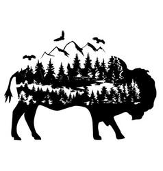 fantasy buffalo vector image