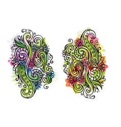 Fantasy fairy-tale floral ornament vector