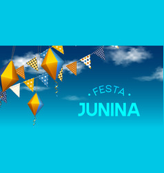 Festa junina holiday banner vector