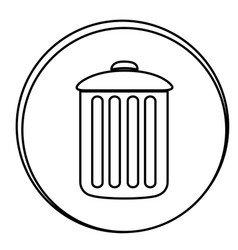 figure can trash emblem icon vector image