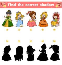 find correct shadow education game vector image