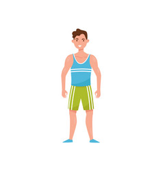 fitness man character man choosing healthy vector image