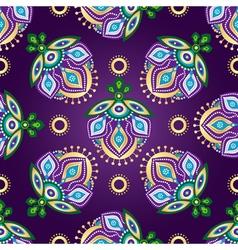 Floral dark violet seamless pattern vector