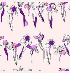 floral pattern row vector image