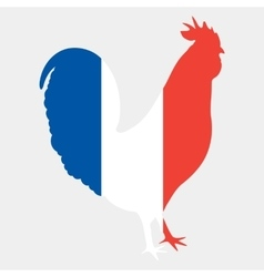 Gallic rooster in french flag colors vector