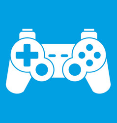 Game controller icon white vector