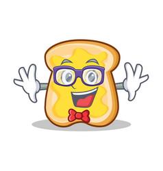 Geek slice bread cartoon character vector