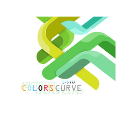 Green colors abstract vector