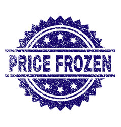 Grunge textured price frozen stamp seal vector