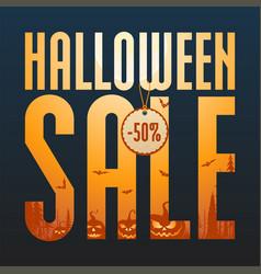 halloween sale concept vector image