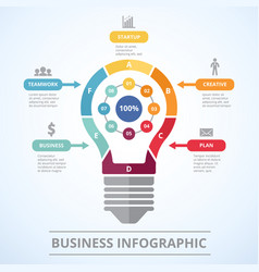 infographic concept with stylized picture of vector image