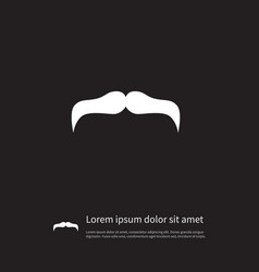 Isolated mustache icon goatee element can vector