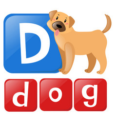 Letter d is for dog vector