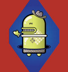 little green robot vector image