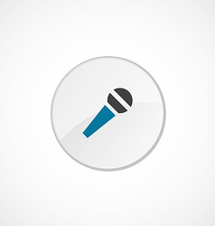 microphone icon 2 colored vector image