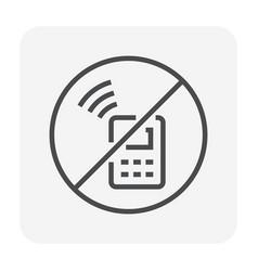 no mobile icon vector image