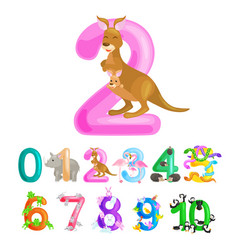 ordinal number 2 for teaching children counting vector image