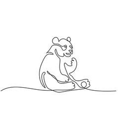 Panda bear symbol vector