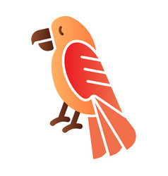 Parrot flat icon animal color icons in trendy vector