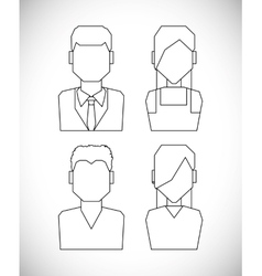 People profile silhouette vector image
